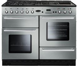 RANGEMASTER Toledo 110 Gas Range Cooker - Stainless Steel & Chrome