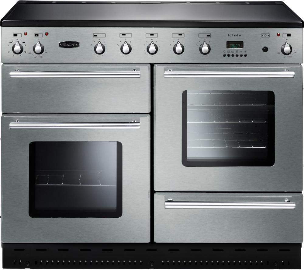RANGEMASTER  Toledo 110 Induction Range Cooker  Stainless Steel & Chrome Stainless Steel