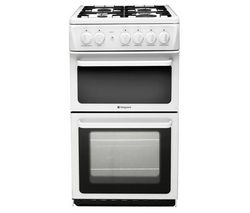 HOTPOINT HAG51P Gas Cooker - White