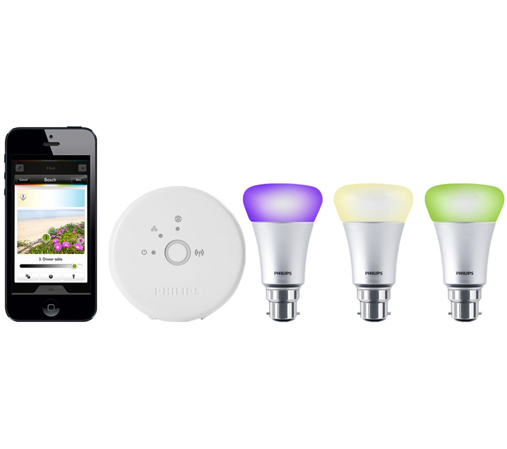 philips hue wireless bulbs starter kit b22. Black Bedroom Furniture Sets. Home Design Ideas