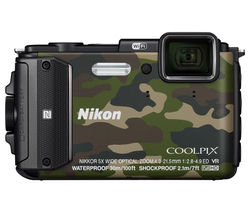 NIKON COOLPIX AW130 Tough Compact Camera - Camouflage