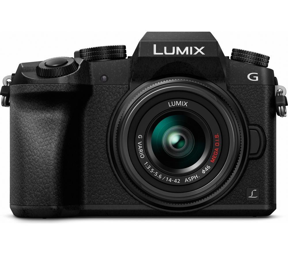 PANASONIC Lumix DMC-G7EB-K Mirrorless Camera with 14-42 mm f/3.5-5.6 Lens - Black