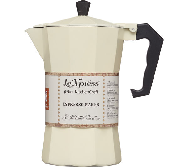 How To Use Le Xpress Coffee Maker : Buy LE XPRESS Italian Style Espresso Coffee Maker - Cream Free Delivery Currys