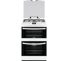 ZANUSSI ZCK68300W 60 cm Dual Fuel Cooker - White