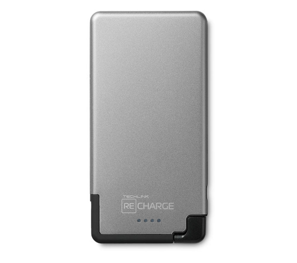 TECHLINK Recharge Ultrathin 3000 Portable Power Bank - Grey & Black