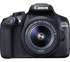Canon EOS 1300D 18MP HD Digital SLR Camera with 18-55mm Lens with 3x Optical Zoom (Black)