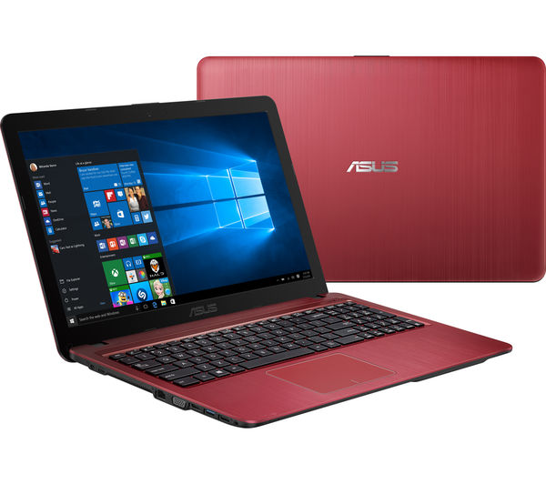 buy asus x541sa 15 6 laptop red free delivery currys. Black Bedroom Furniture Sets. Home Design Ideas