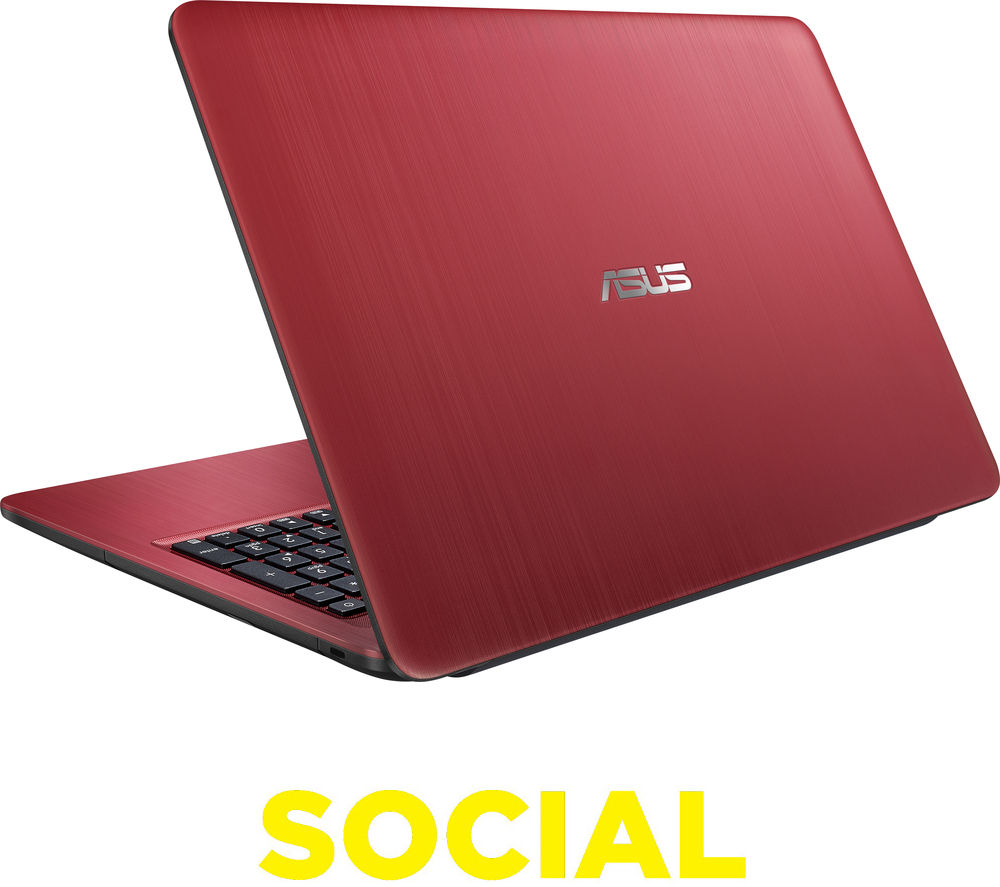 "ASUS X541SA 15.6"" Laptop - Red + Office 365 Personal + LiveSafe Unlimited 2017 - 1 year"