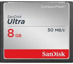 SANDISK Ultra 50 Ultra Performance CompactFlash Memory Card - 8 GB