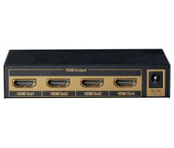 LABGEAR 4-Way 4K HDMI Splitter with Ethernet