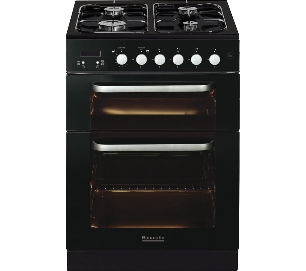 BAUMATIC BCG625BL Gas Cooker - Black