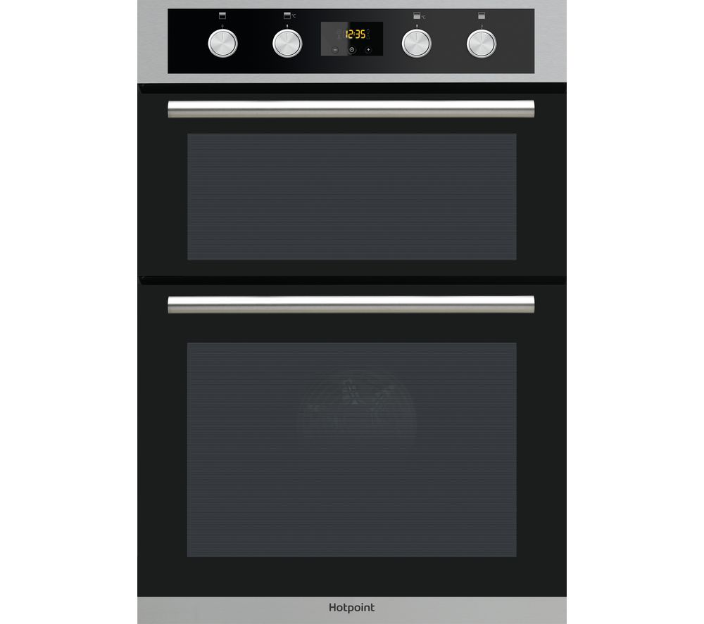 Good Large Built In Double Oven Part - 14: HOTPOINT Class 2 DD2 844 C IX Electric Double Oven - Stainless Steel U0026 Black