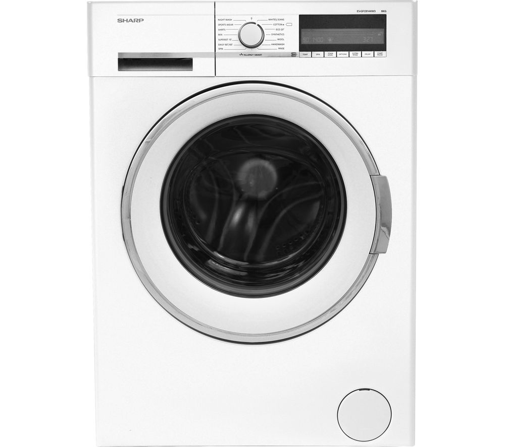 Image of SHARP ES-GFC8144W3 Washing Machine - White, White