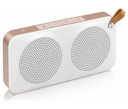 JVC SP-AD60-M Portable Wireless Speaker - White & Gold