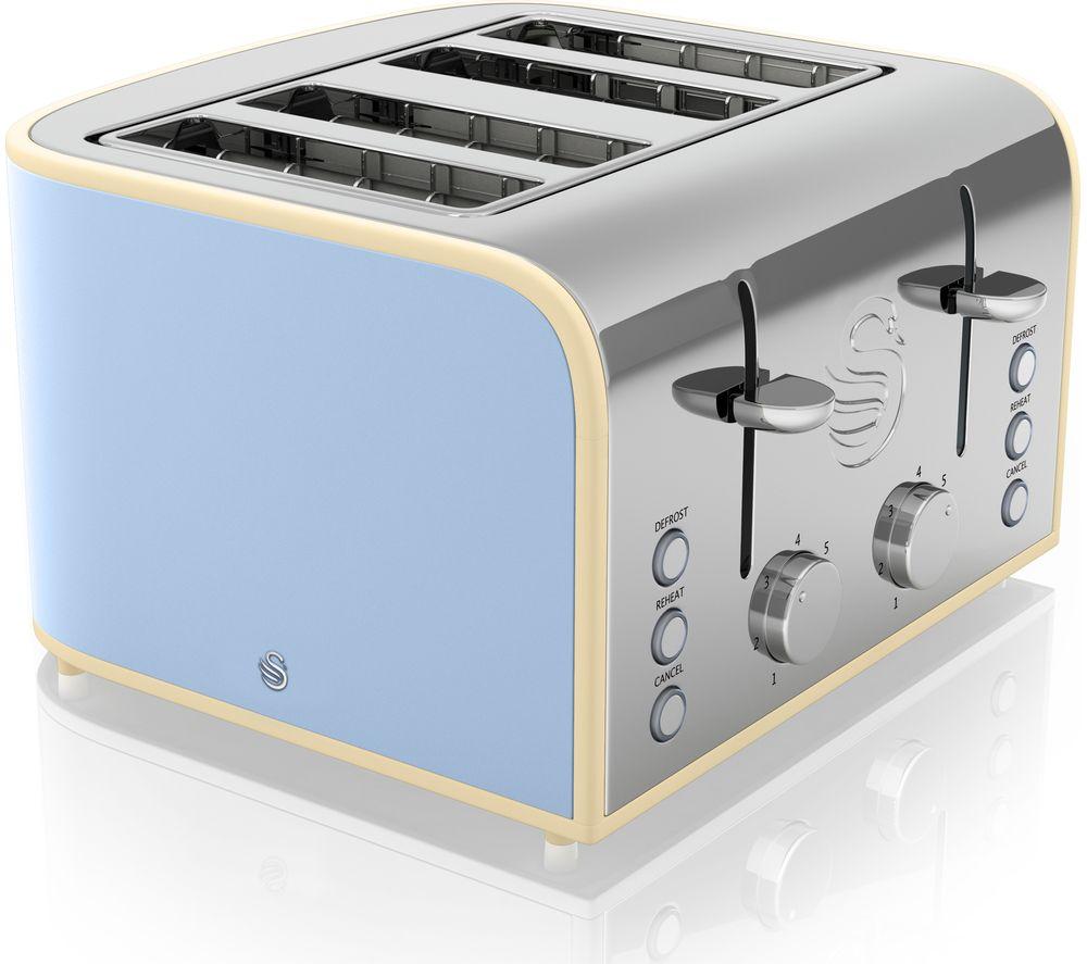 SWAN Retro ST17010BLN 4-Slice Toaster - Blue