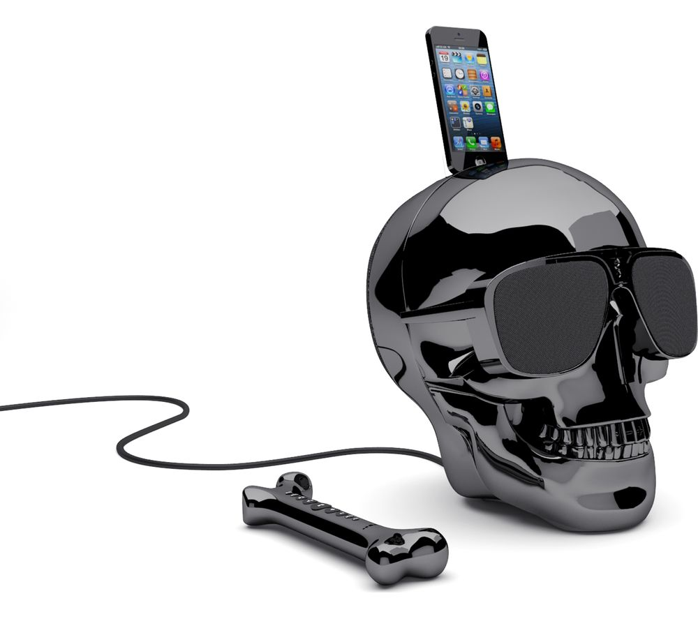 JARRE Aeroskull HD+ Wireless Speaker - Chrome Black