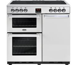 BELLING Gourmet 90E PROF STA 90 cm Dual Fuel Range Cooker - Stainless Steel