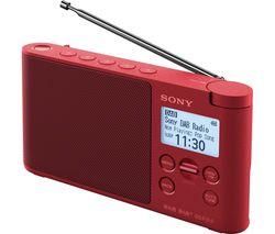 SONY XDR-S41DR Portable DAB+/FM Radio - Red