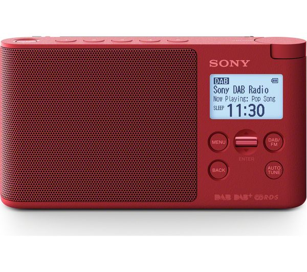 sony xdr s41d portable dab fm clock radio red deals. Black Bedroom Furniture Sets. Home Design Ideas