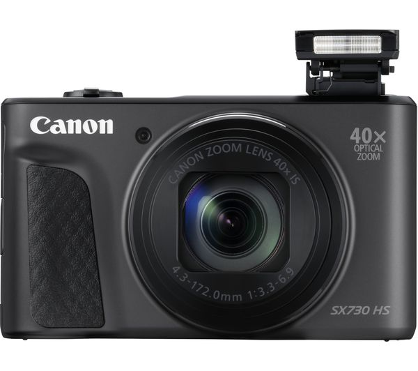 buy canon powershot sx730 hs superzoom compact camera black free delivery currys. Black Bedroom Furniture Sets. Home Design Ideas