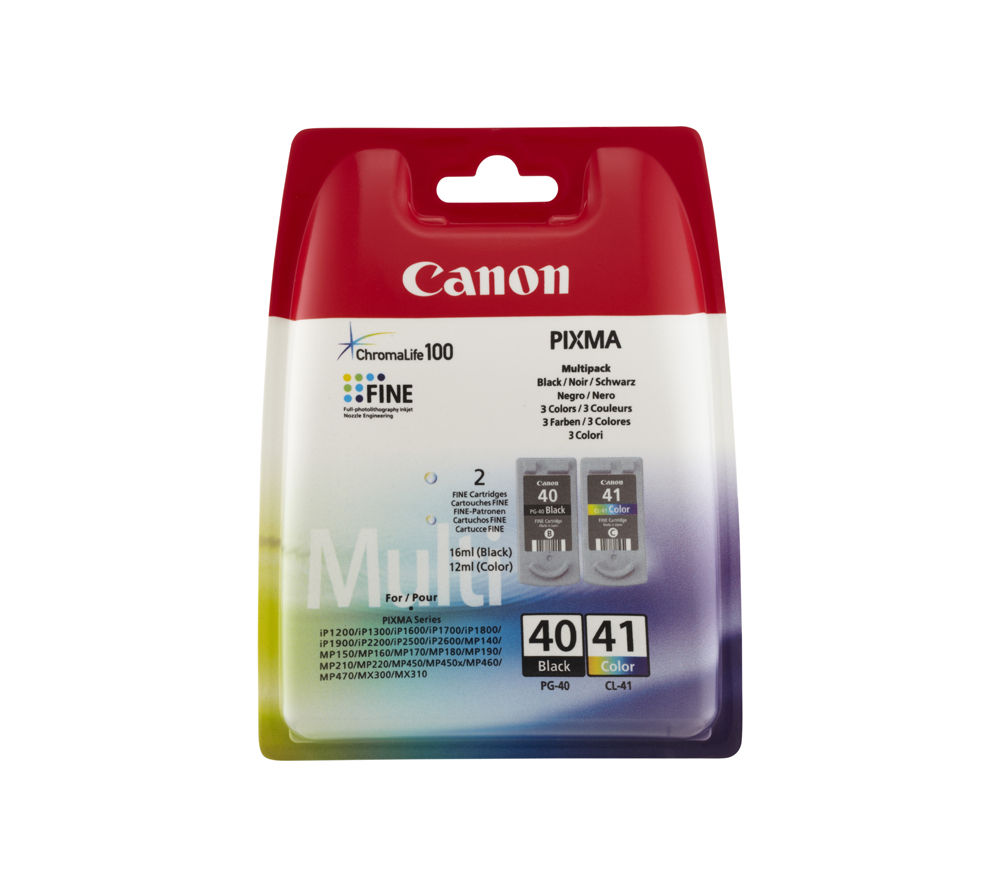 canon pg 40 cl 41 black colour ink cartridge multipack deals pc world. Black Bedroom Furniture Sets. Home Design Ideas