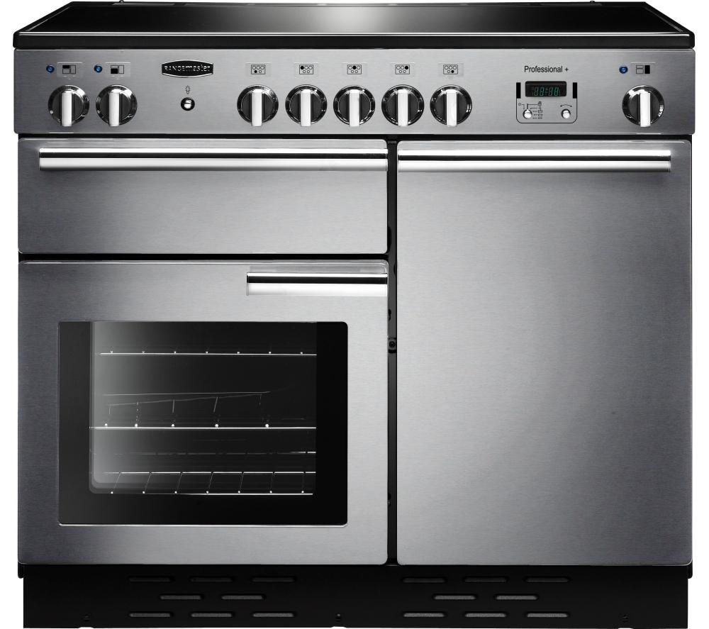 RANGEMASTER Professional+ 100 Electric Induction Range Cooker - Stainless Steel & Chrome