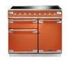RANGEMASTER Elise 100 Electric Induction Range Cooker - Orange & Chrome