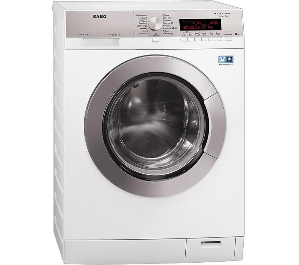 aeg lavamat l88409fl2 washing machine white stainless steel. Black Bedroom Furniture Sets. Home Design Ideas