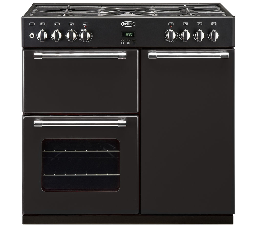 BELLING Country Range 90DFT Dual Fuel Range Cooker - Black