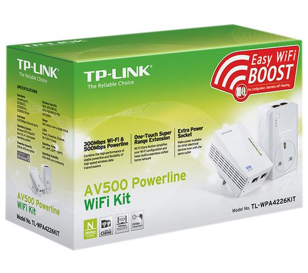 tp link tl wpa4226kit av500 wireless powerline adapter kit twin pack deals pc world. Black Bedroom Furniture Sets. Home Design Ideas