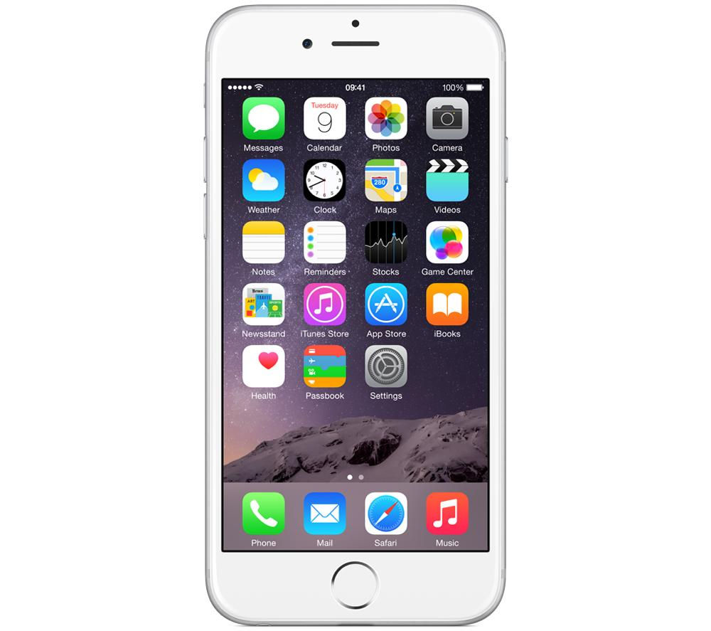Apple iPhone 6 - 16GB, Silver, Silver
