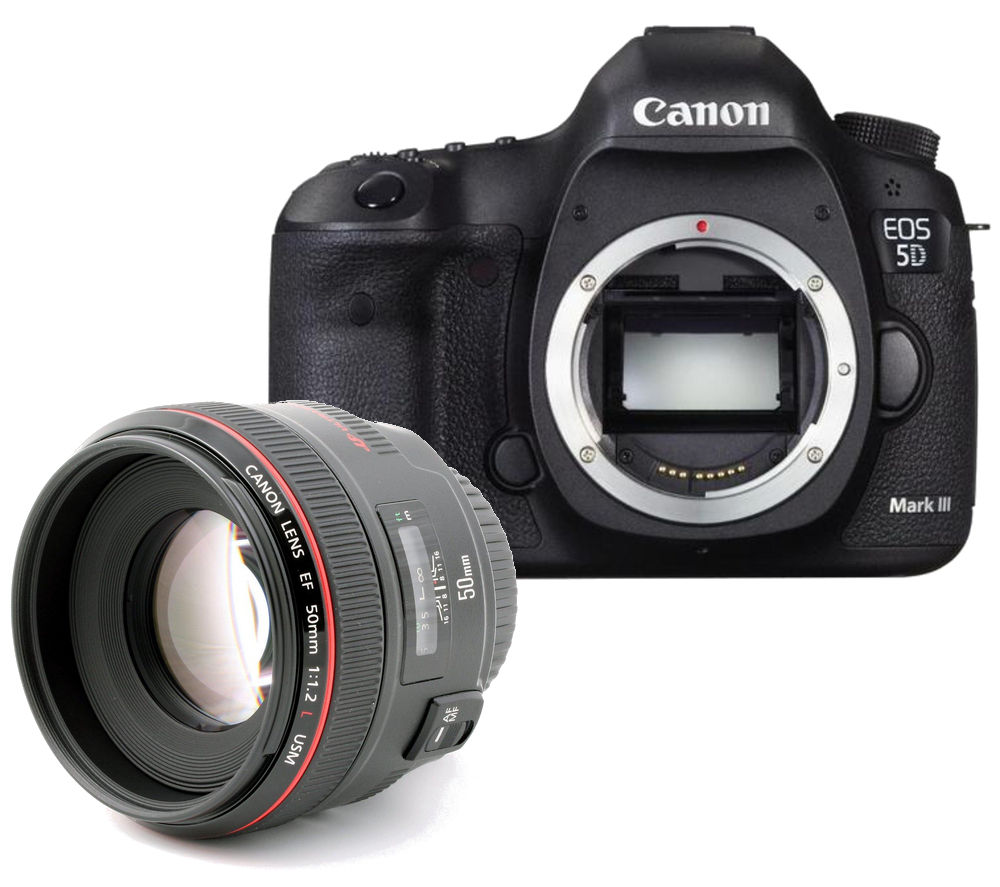 CANON EOS 5D Mark III DSLR Camera with EF 50 mm f/1.2 USM Prime Lens