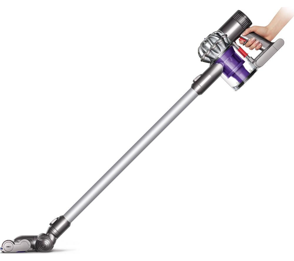 buy dyson v6 cordless vacuum cleaner silver free delivery currys. Black Bedroom Furniture Sets. Home Design Ideas