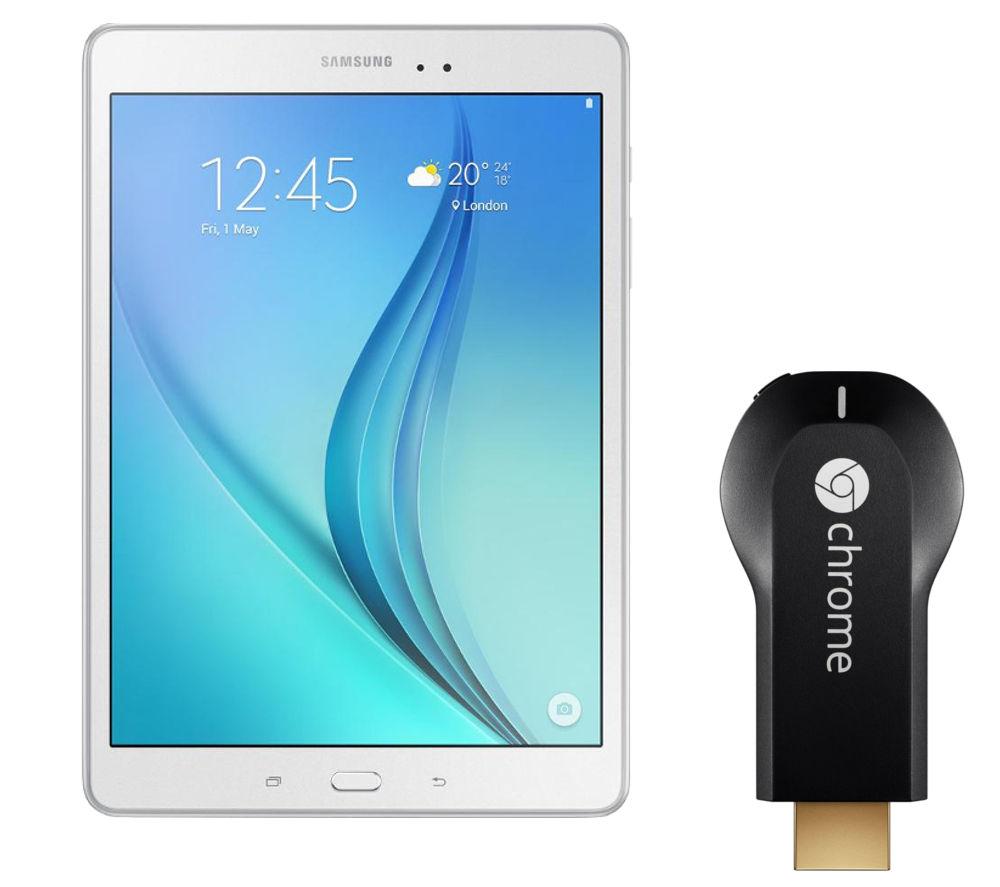 Samsung Galaxy Tab A 9.7 Tablet  16 GB White with Chromecast White