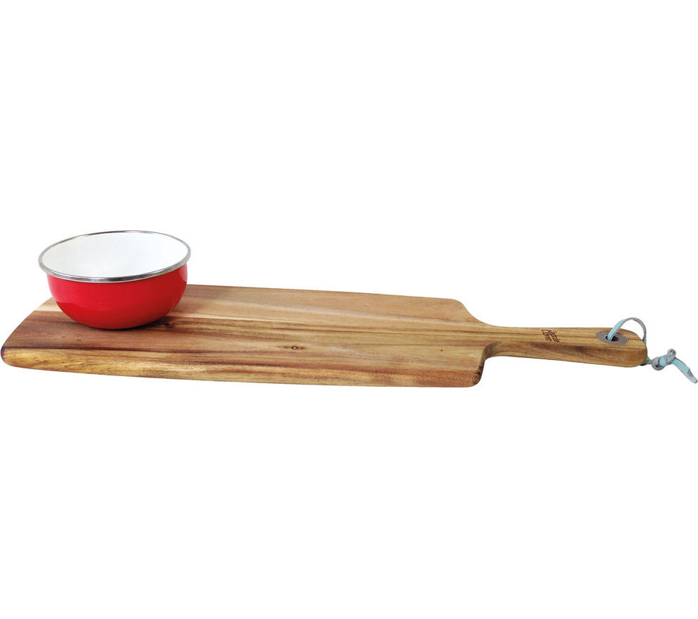 Image of JAMIE OLIVER Acacia Serving Board With Enamel Dish