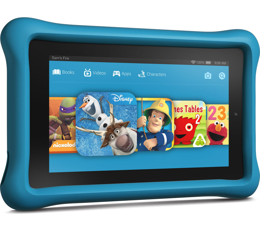 Image of Amazon Fire 7 Tablet Kids Edition - 16 GB, Blue, Pink