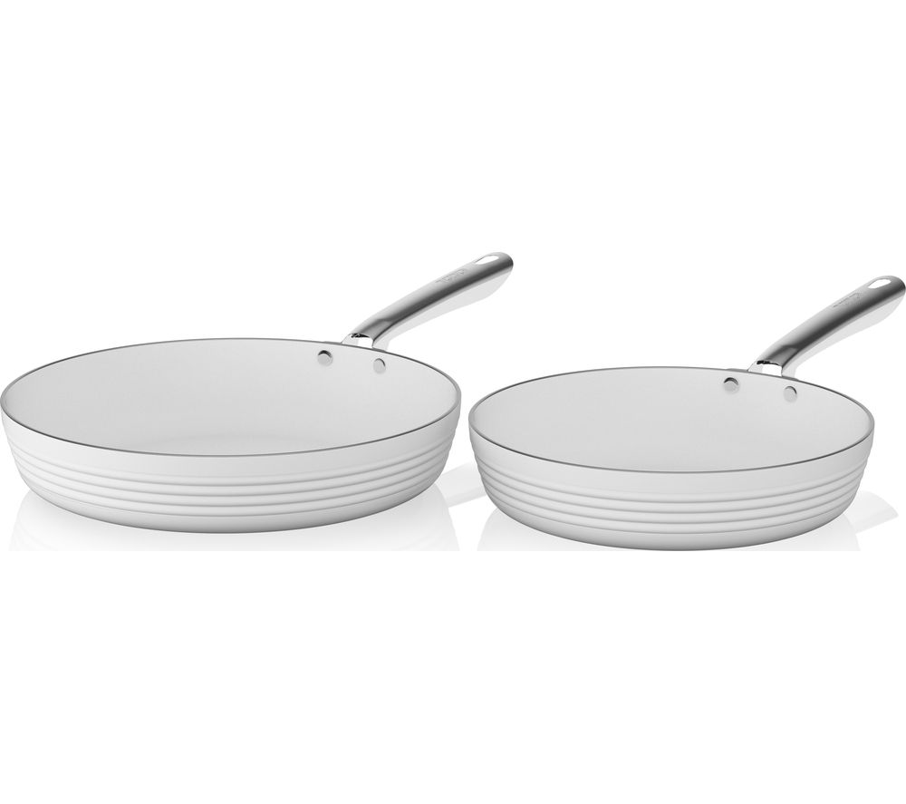 buy tower t90910w 2 piece non stick frying pan set white. Black Bedroom Furniture Sets. Home Design Ideas