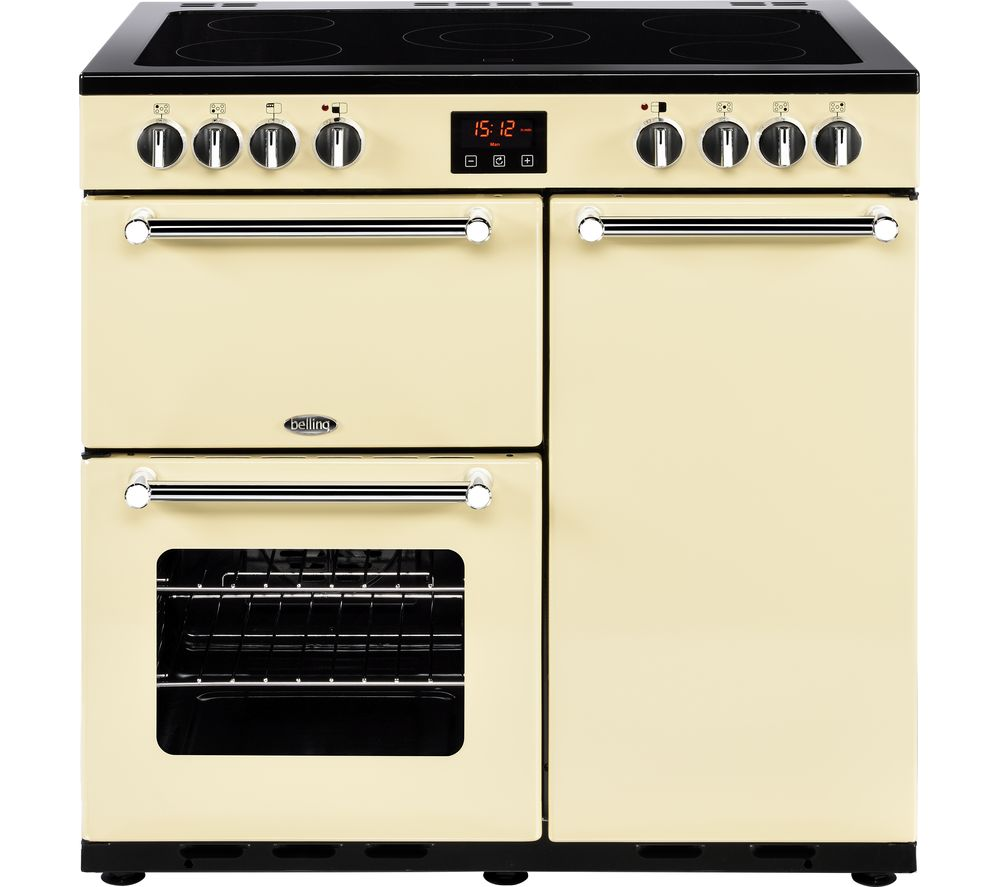 Uncategorized Belling Kitchen Appliances buy belling kensington 90 cm electric ceramic range cooker cream chrome