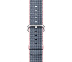 APPLE Watch 42 mm Light Pink & Midnight Blue Woven Nylon Band