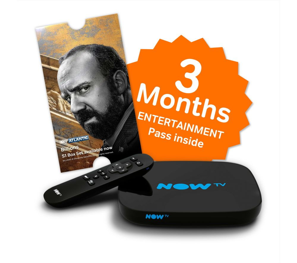 NOW TV Full HD Smart TV Box - 3 Months Entertainment Bundle