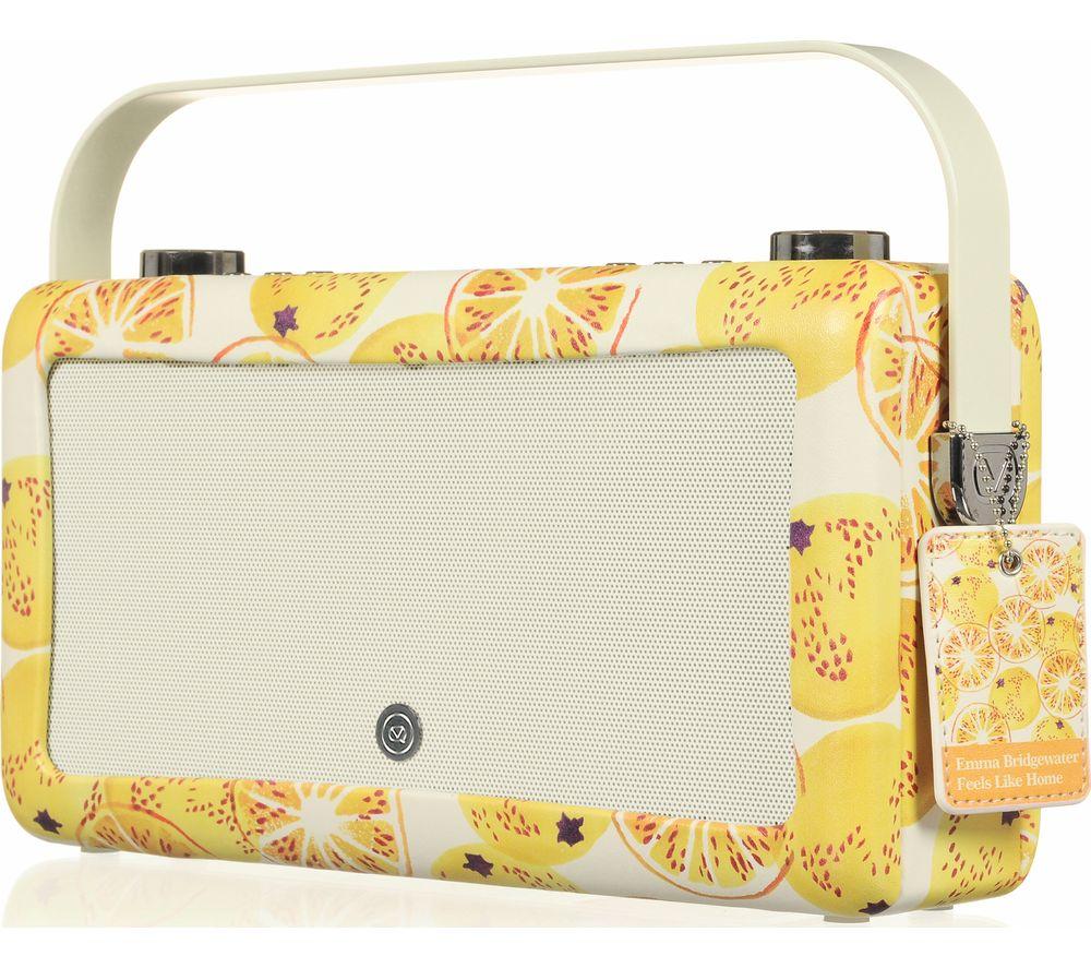 VQ Hepburn Mk II Portable DAB+/FM Bluetooth Clock Radio - Marmalade
