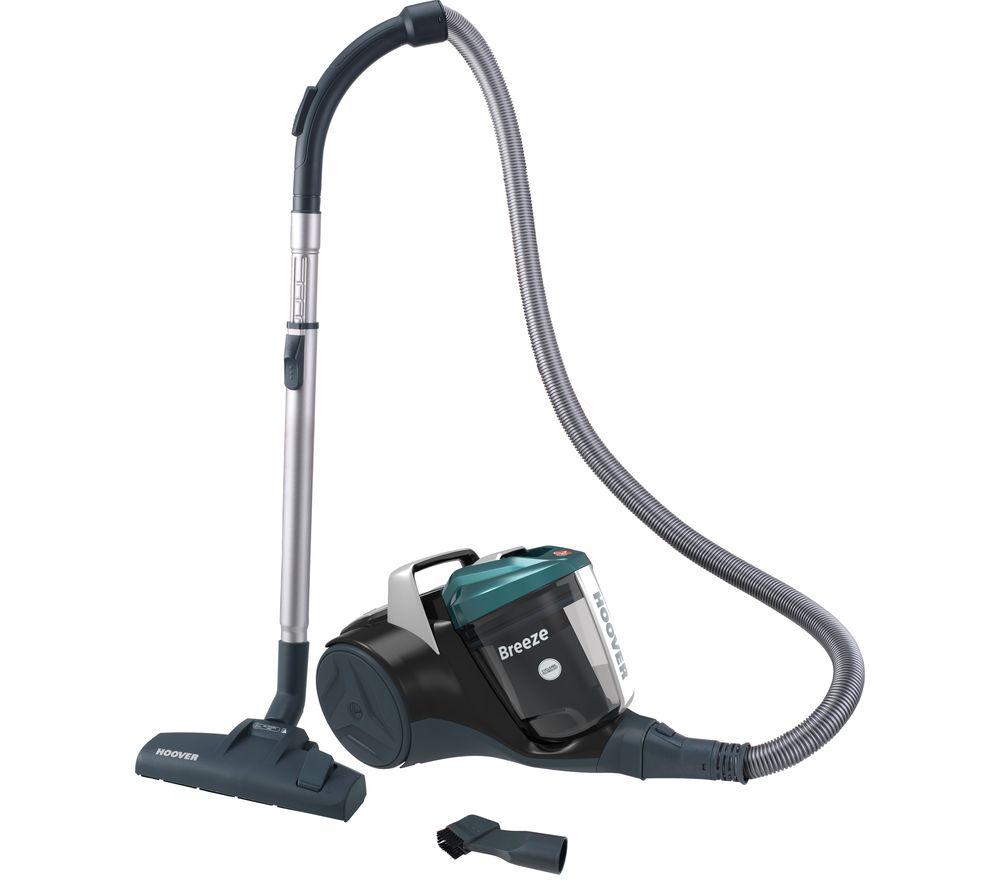 HOOVER Breeze BR71 BR01 Cylinder Bagless Vacuum Cleaner - Black & Green