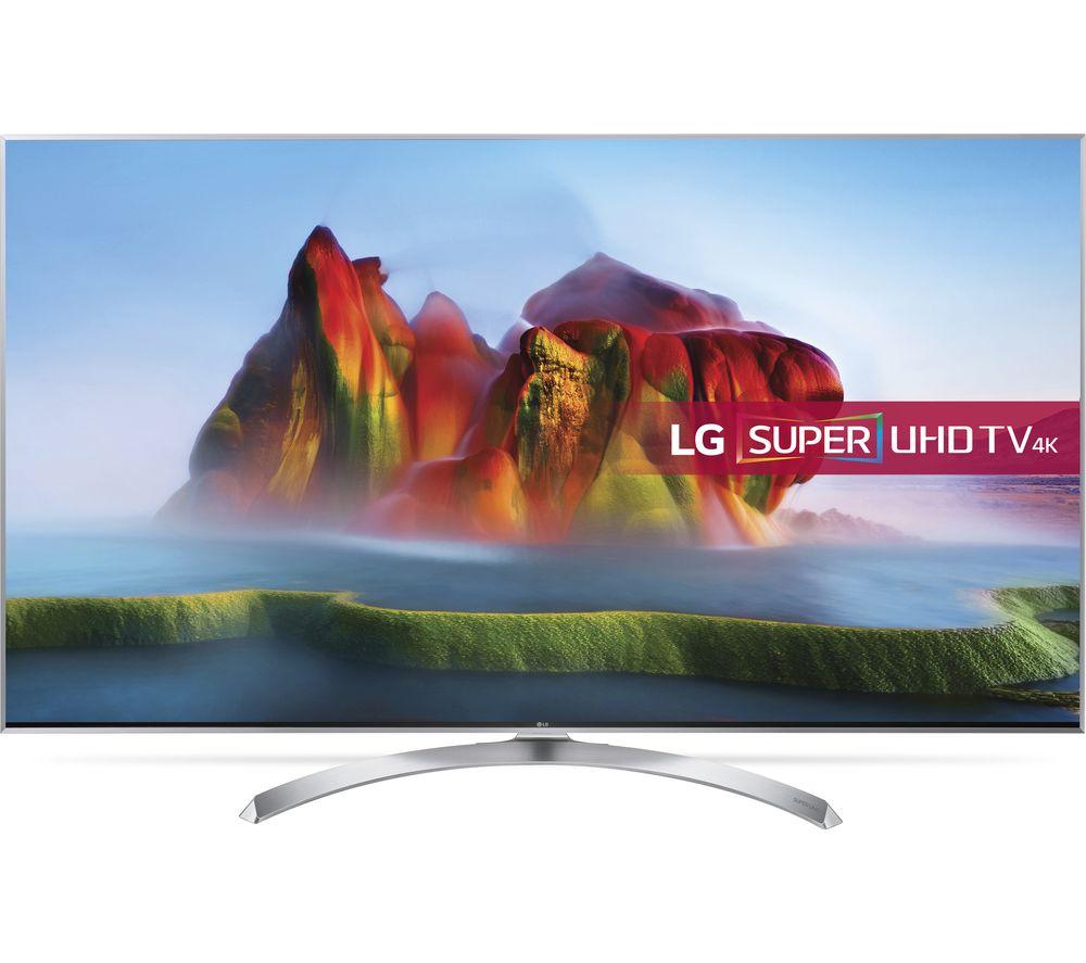 "LG 49SJ810V 49"" Smart 4K Ultra HD HDR LED TV + SFLEZ14 Medium to Large Fixed TV Bracket"