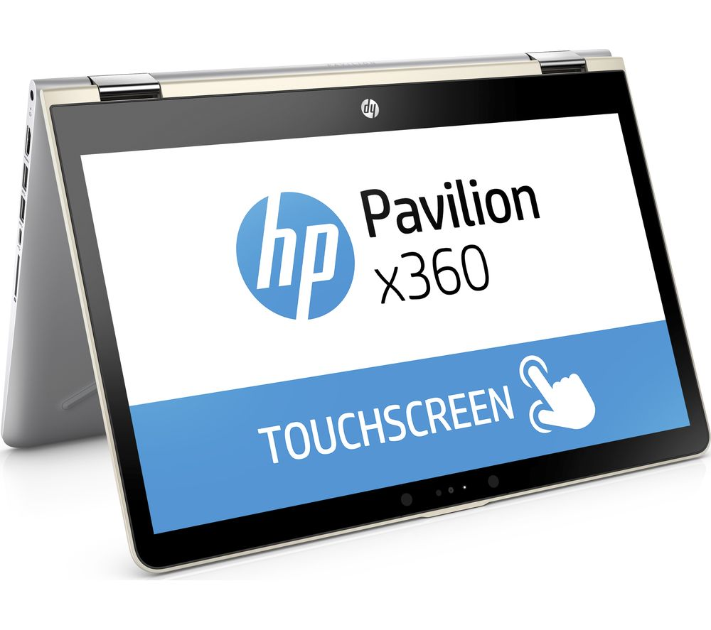 "HP Pavilion x360 14-ba090sa 14"" 2 in 1 - Gold + Office 365 Home + LiveSafe Unlimited 2017 - 1 year"