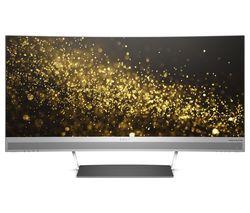 "HP ENVY 34 WQHD 34"" Curved LED Monitor - Black & Silver"