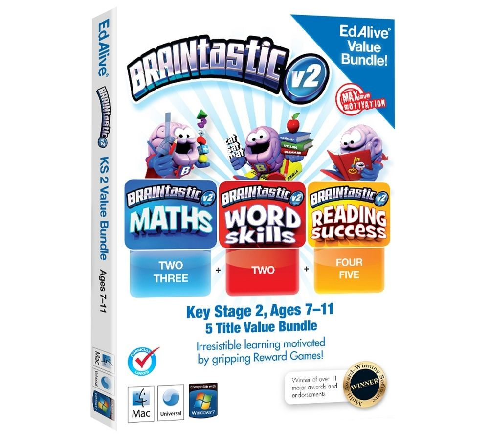 EDALIVE Braintastic Value Bundle, Ages 7-11 - For PC and Mac