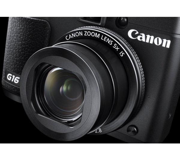 Canon powershot g16 high performance compact digital camera black