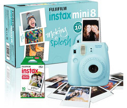 FUJIFILM Instax Mini 8 Instant Camera & 10 Shot Bundle - Blue