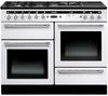 RANGEMASTER Hi-LITE 110 Dual Fuel Range Cooker - White & Chrome