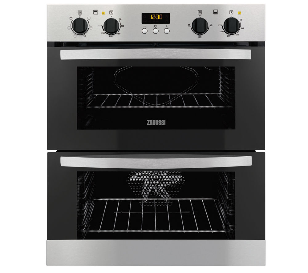 Image of Zanussi ZOF35517XA Electric Built-under Double Oven - Stainless Steel, Stainless Steel